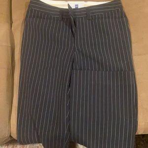 GAP pin stripe boot cut trousers